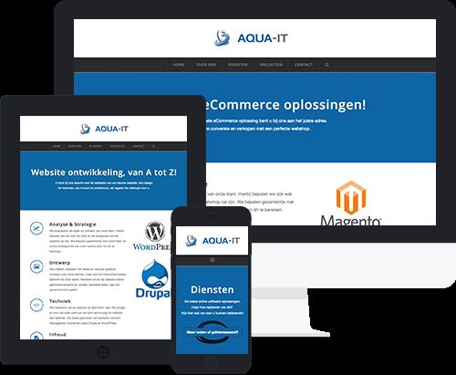 Aqua-IT Responsive Design Mockup